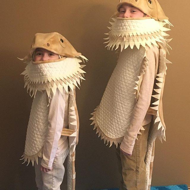 Bearded dragon Halloween costumes Teen and kids sizes shown - halloween costumes with beards ideas