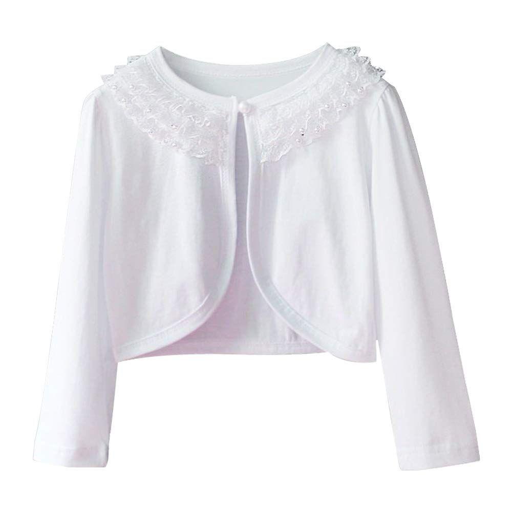 Adorel Little Girls Lace Bolero Shrug Cardigan Long Sleeved