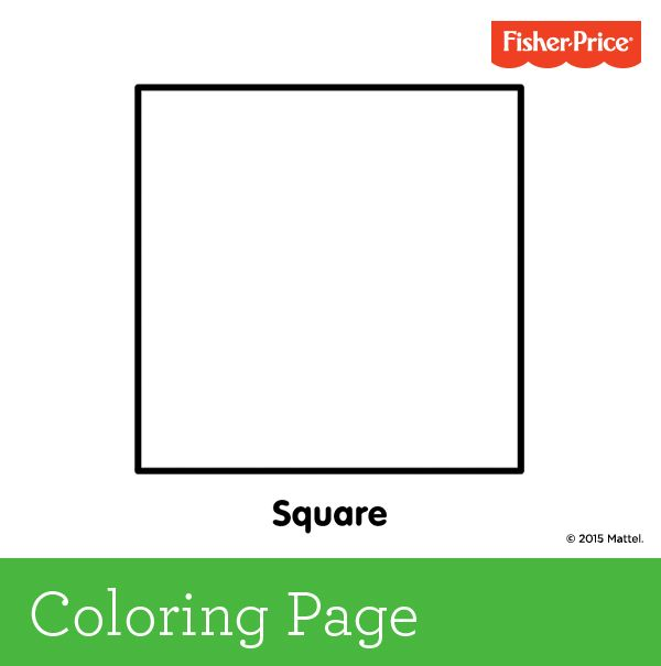 It\'s hip to be a square! Kids can color this page in to be whatever ...