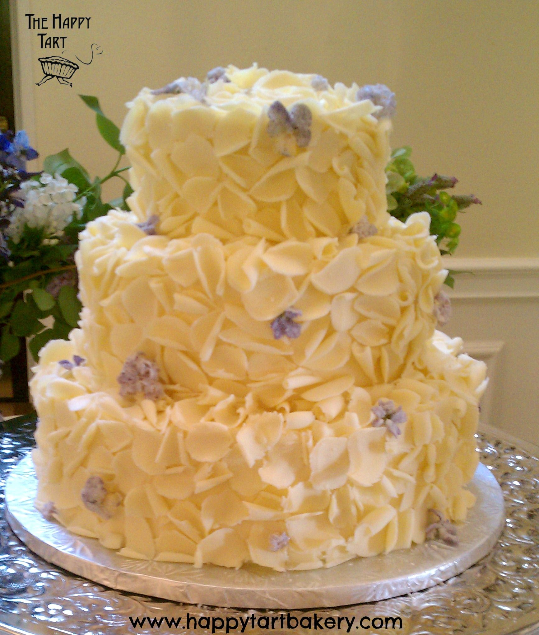 Gluten Free White Chocolate Curls and Candied Lilacs and Violets ...