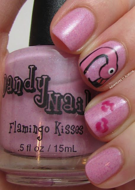 Indie brand dandy nails flamingo kisses with flamingo kisses nail indie brand dandy nails flamingo kisses with flamingo kisses nail art nailart prinsesfo Images