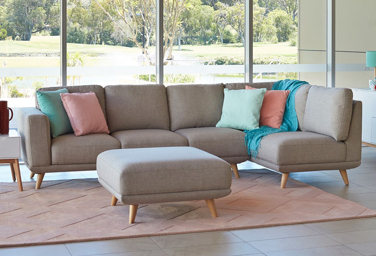 Lounges Cologne 3 Seater Plus Chaise Fabric Lounge Suite Perth Western Australia