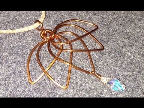 Handmade jewelry wire jewelry lessons diy how to make lotus handmade jewelry wire jewelry lessons diy how to make lotus pendant audiocablefo light catalogue