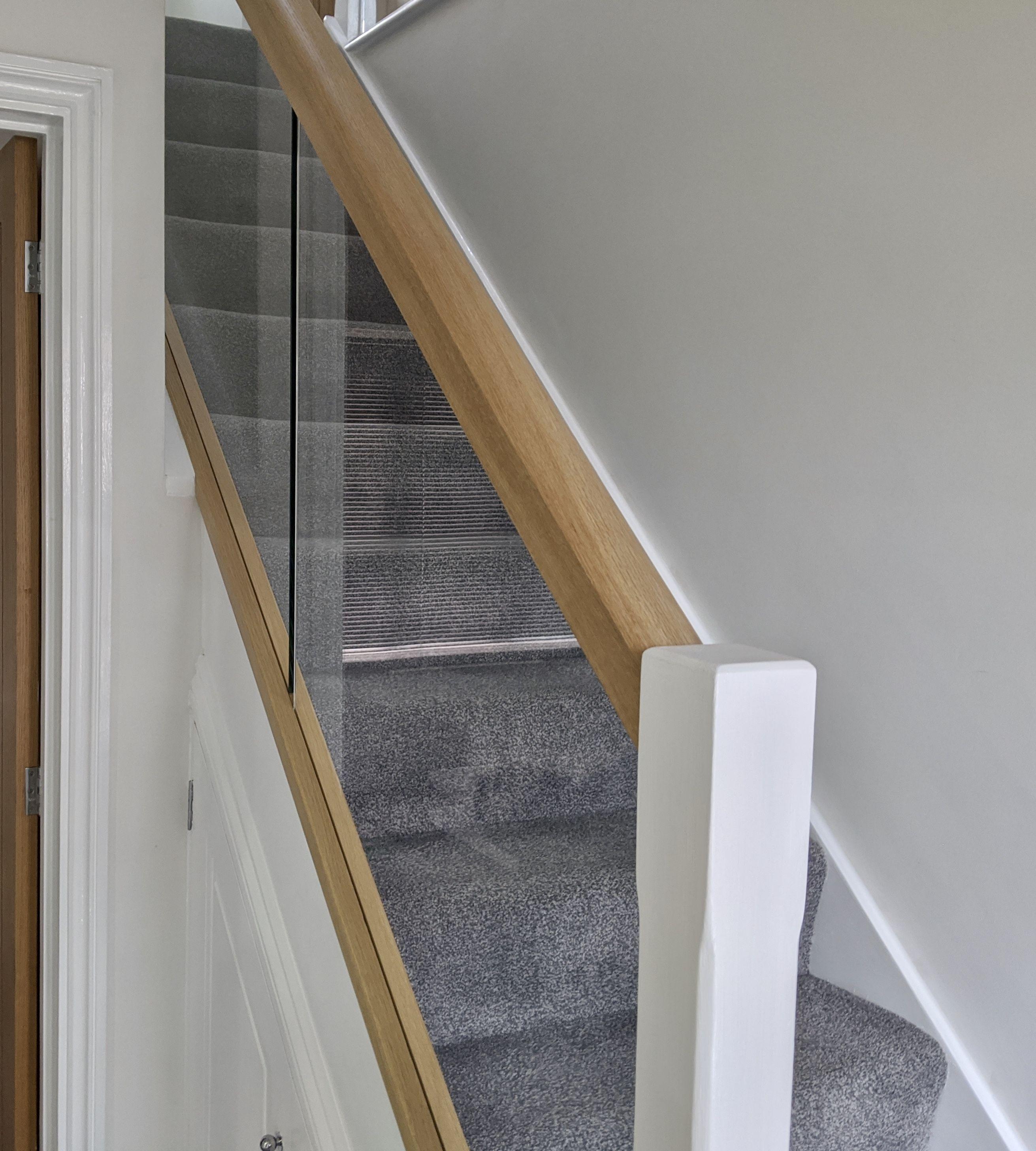 Glass Staircase Balustrade Kit: Glass Balustrade, Diy Glass, Glass Staircase