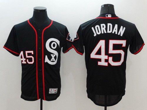 premium selection ff976 3b340 Men's Chicago White Sox #45 Michael Jordan Retired Retired ...