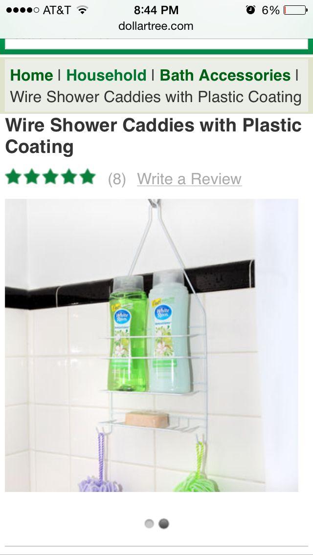 Dollar Tree Shower Caddy Plastic Coating Bath Accessories