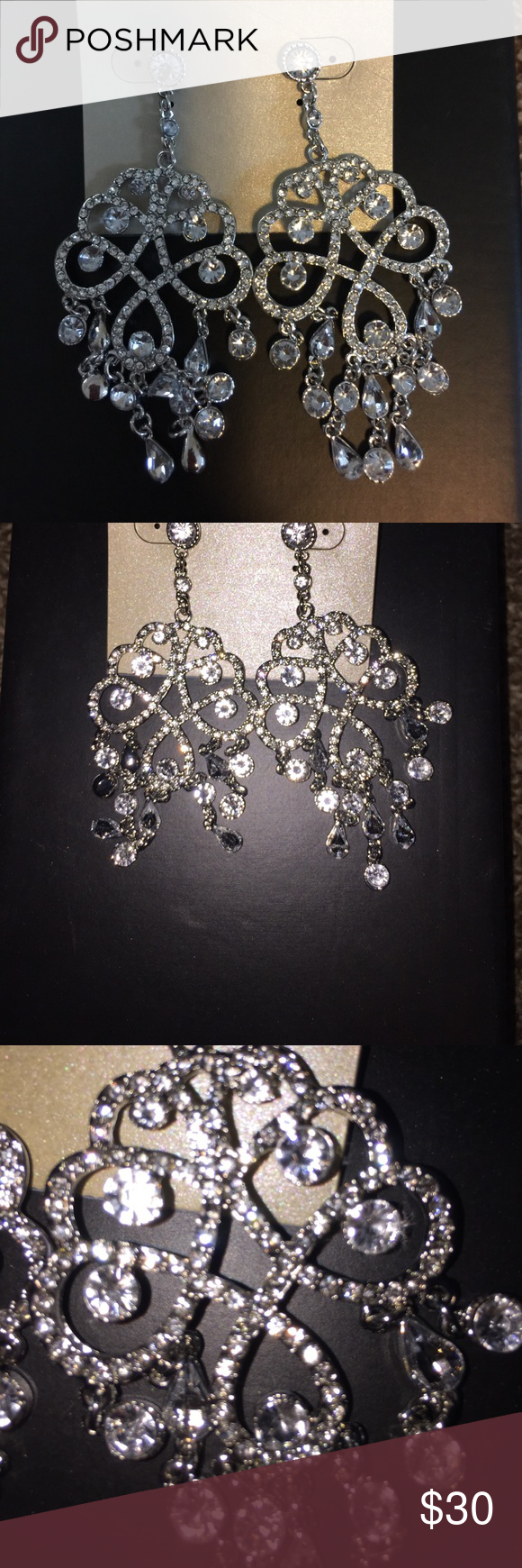 Beautiful rhinestone chandelier earrings great large rhinestone beautiful rhinestone chandelier earrings great large rhinestone earrings will go great for a formal look or arubaitofo Choice Image