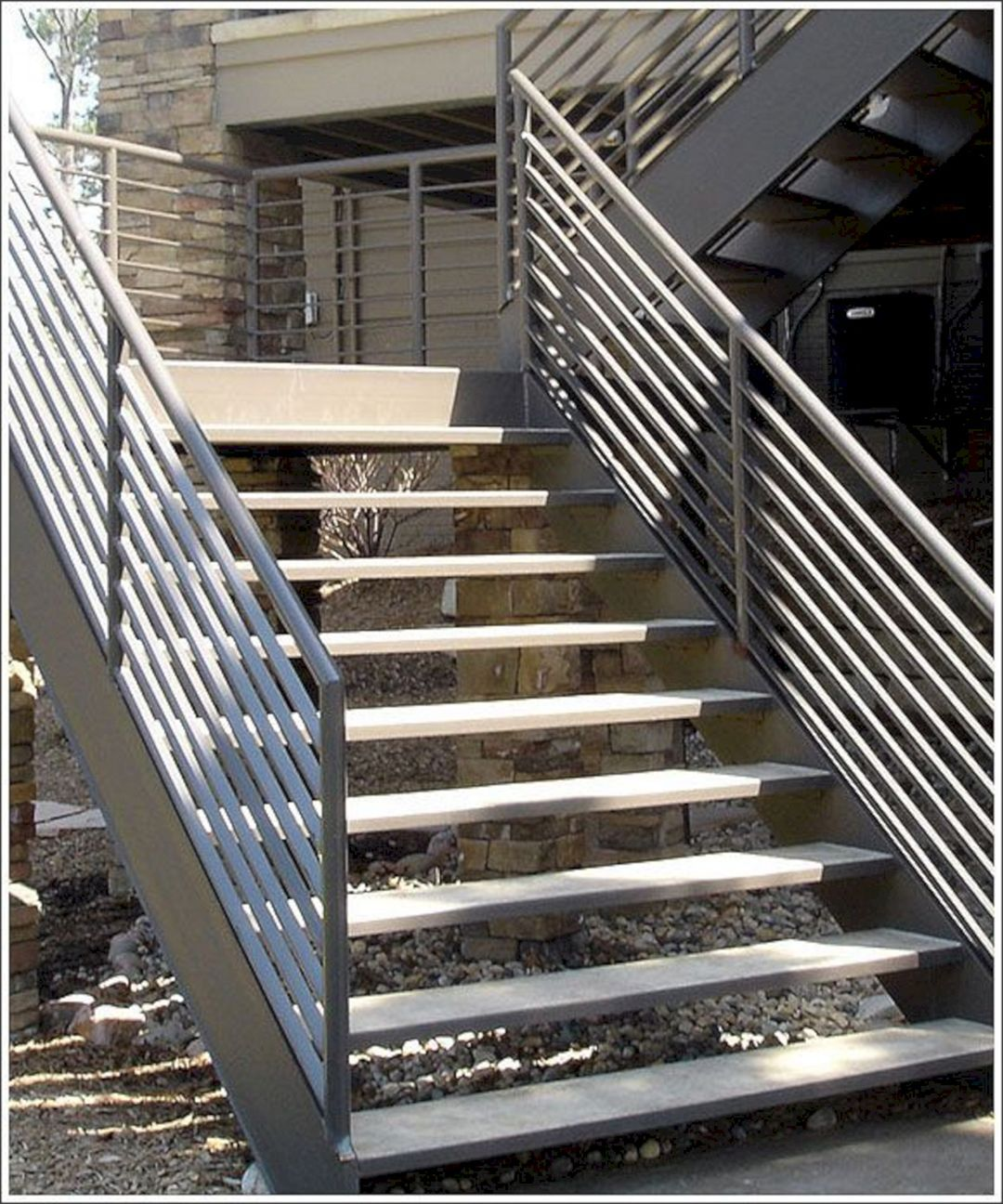 25 Marvelous Outdoor Stairway Ideas For Creative Home Design - Exterior-stairs-designs-creative