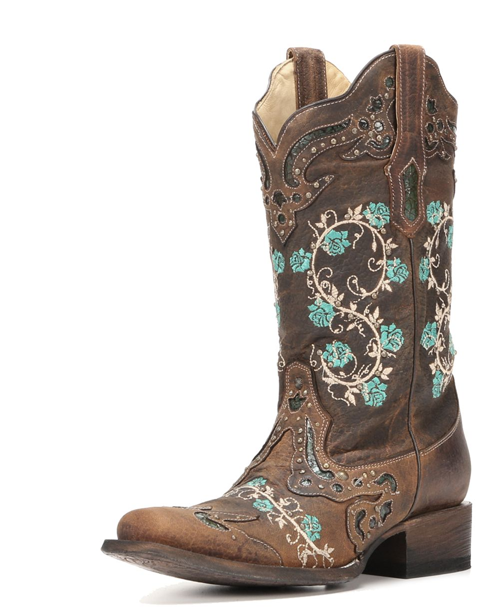 8d5ae0917c5  p Step out in gorgeous cowgirl fashion when adorning these beautiful women s  Western boots! Handcrafted from slightly distressed leather to bring that  ...