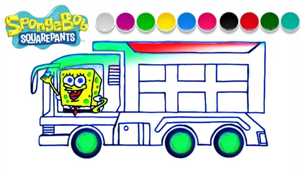 Menggambar Spongesbob Naik Mobil Truk Spongebob Truk Cara Menggambar