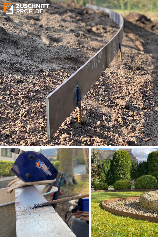 Rasenkanten Aus Stahl Fur Klassische Und Moderne Garten In 2020 Rasenkanten Gartengestaltung Garten
