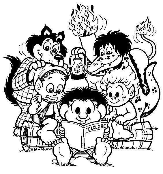 Blog Professor Zezinho Desenhos Do Folclore Imprimir E Colorir