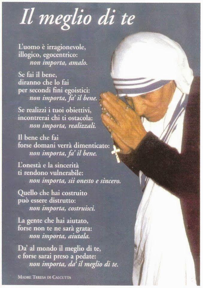 Madre Teresa Di Calcutta Frasi Sulla Famiglia Aforismi