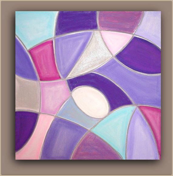 Pintura abstracta Arte Original acrílico por OraBirenbaumArt