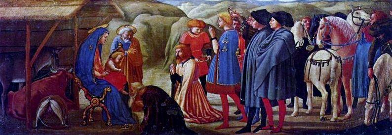 Tommaso Cassai Masaccio: Adoración Magos, 1428.