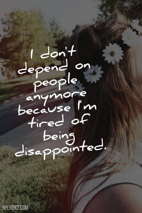 I Depend On Myself