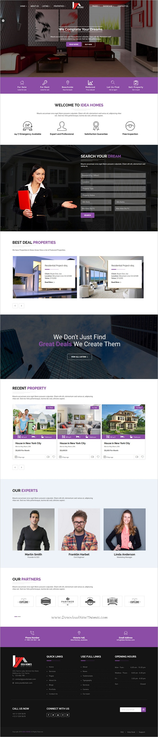 Real Estate Template%0A DreamVilla  Real Estate HTML Template  Business  Download  agents   apartment  estate  flat  home  house  multiproperties  realestate   realestate u