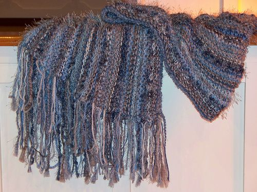 Blue and Gray Shawl by lindyhill719, via Flickr