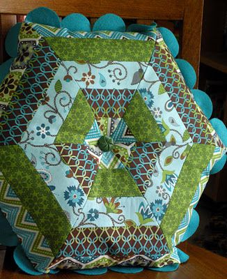 Great Hexagon Pillow - Might be interesting addition to couch