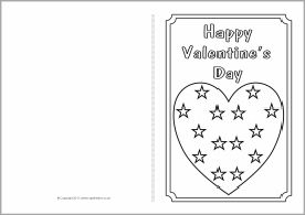 Valentine\'s Day card colouring templates (SB3768) - SparkleBox ...