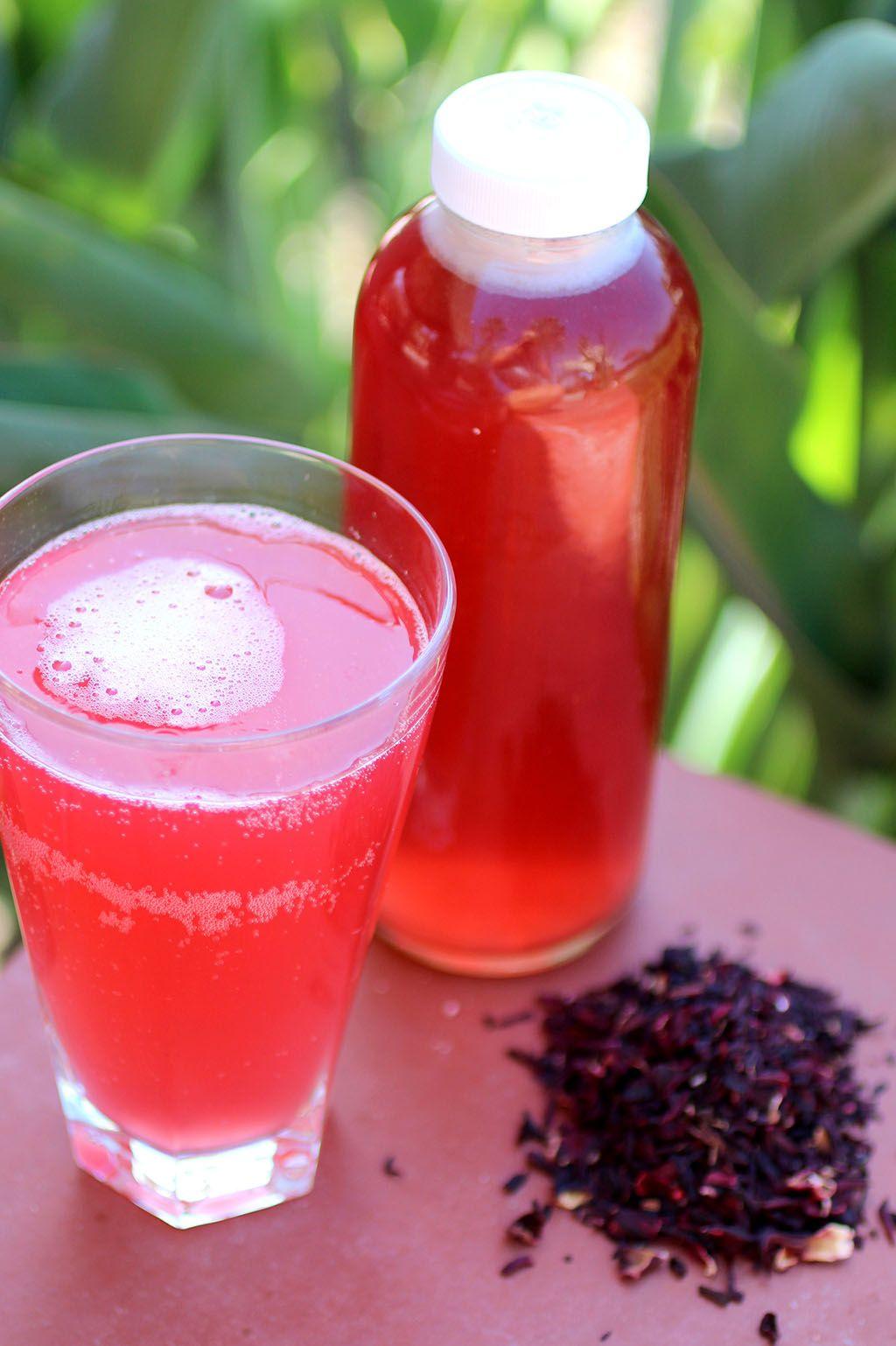 Hibiscus tea kombucha hibiscus kombucha how to use dried hibiscus petals in your first ferment cultured food life izmirmasajfo
