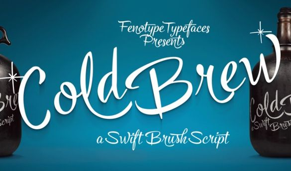 Fonts of The Week (March 7th to March 13th) | Free & Premium Templates The days are getting hotter. Use Cold Brew for that cool look on your designs. Cold Brew is based on hand drawn letters polished with care to retain the vivid appearance of ink brush. Cold Brew is equipped with OpenType features to give you tools for custom-looking design: turn on Stylistic Alternates or Swash in any OpenType savvy program for flashier letters or manually select from even more Alternates from Glyph…