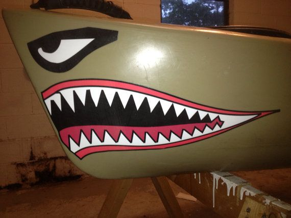 Kayak Shark Mouth Decal By Brand4440 On Etsy 12 99