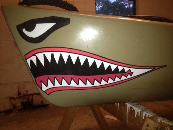 Http Www Etsy Com Listing 150518056 Kayak Shark Mouth