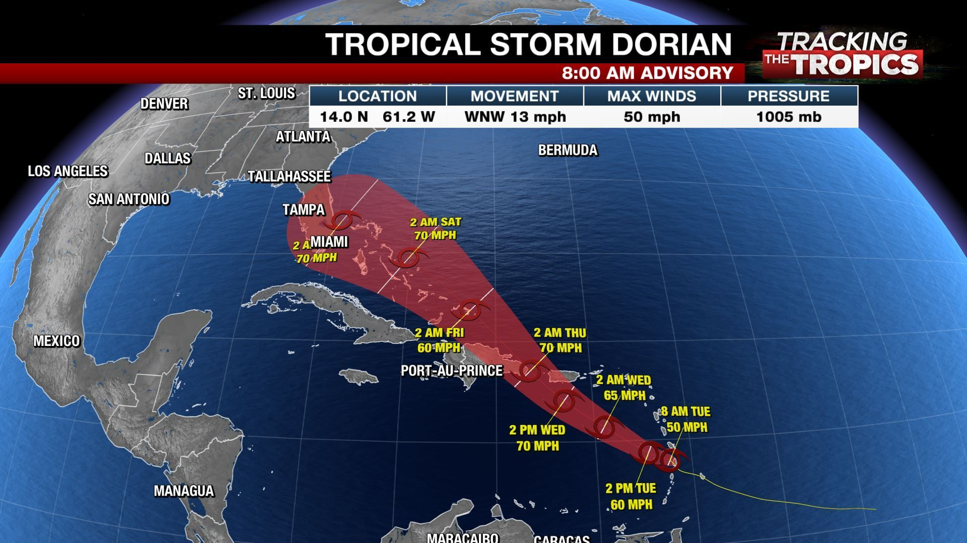 Tracking The Tropics All Eyes On Dorian As It Moves Into Caribbean National Hurricane Center Caribbean Caribbean Culture