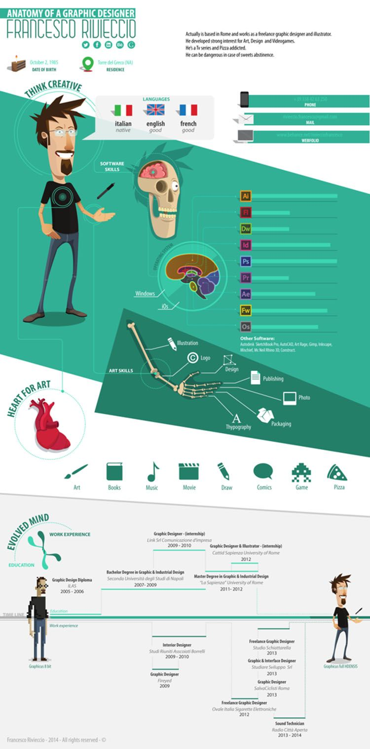 illustrated resume