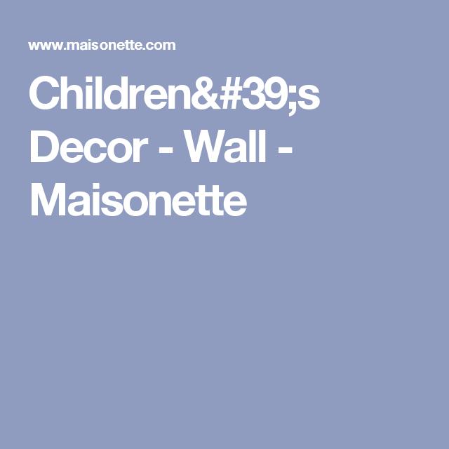Children's Decor - Wall - Maisonette