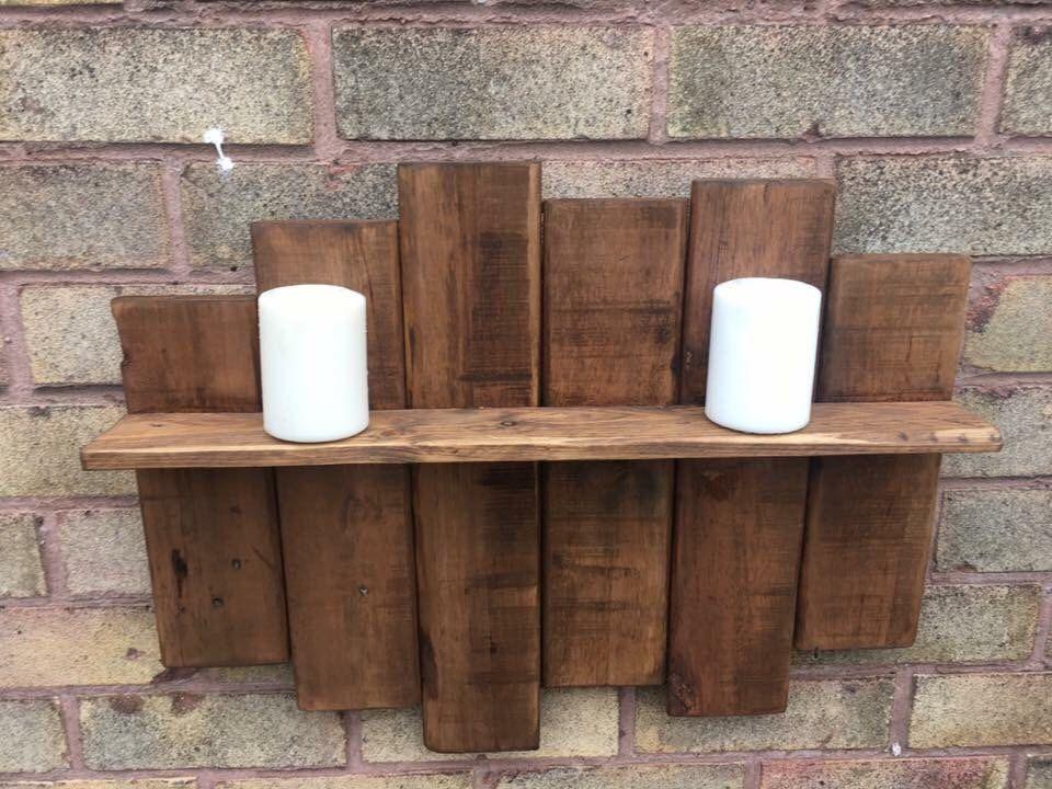 Rustic reclaimed pallet wood shelf by Rusticretrofurniture on Etsy https://www.etsy.com/uk/listing/475593891/rustic-reclaimed-pallet-wood-shelf