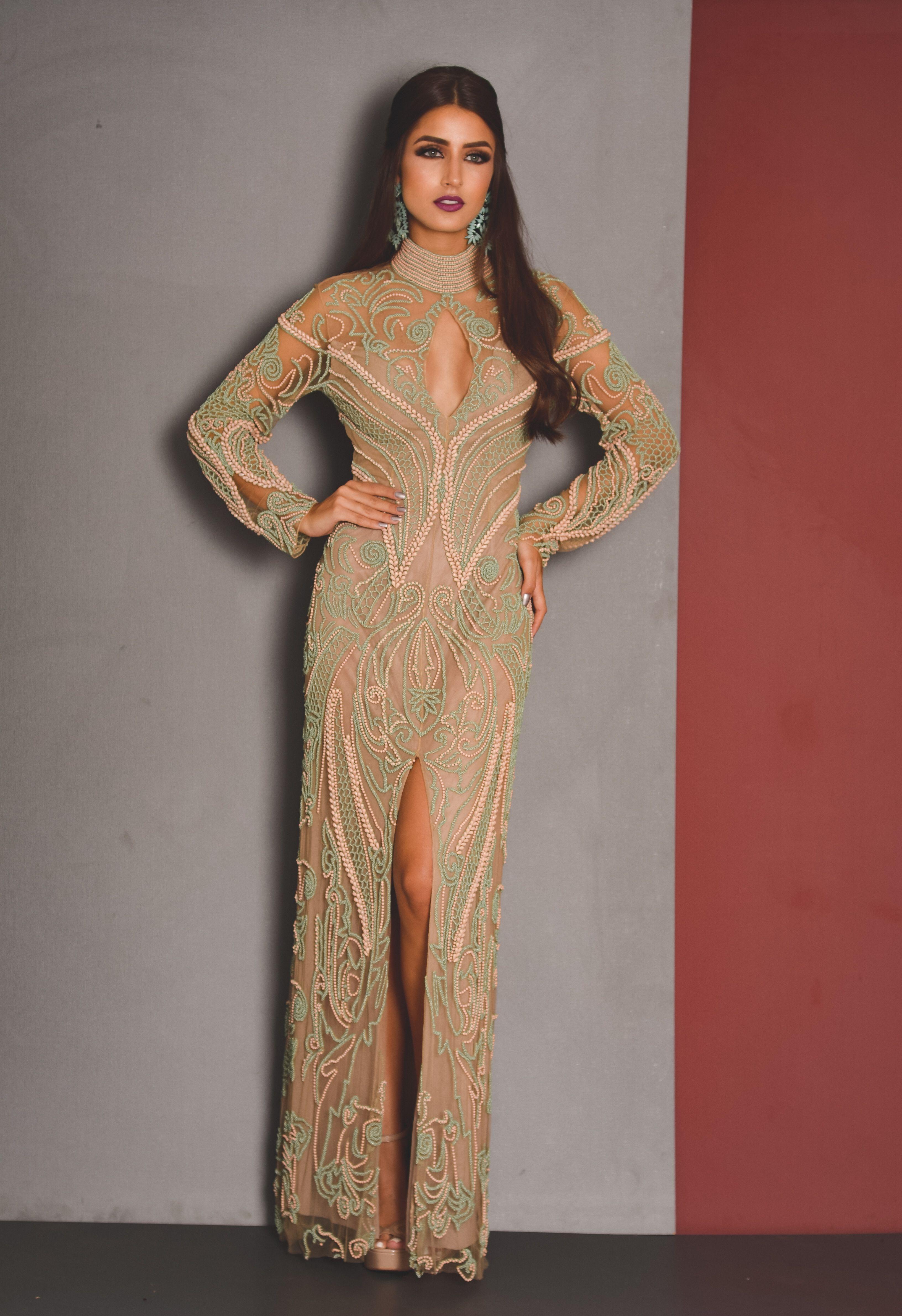Vestido Longo Patricia Bonaldi Da Linha De Aluguel Premium Da Fits