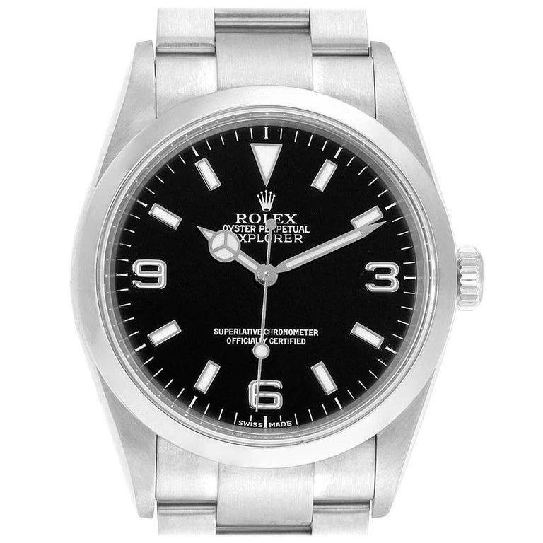 Rolex Steel Explorer I Automatic Men Watch 114270 #rolexexplorer