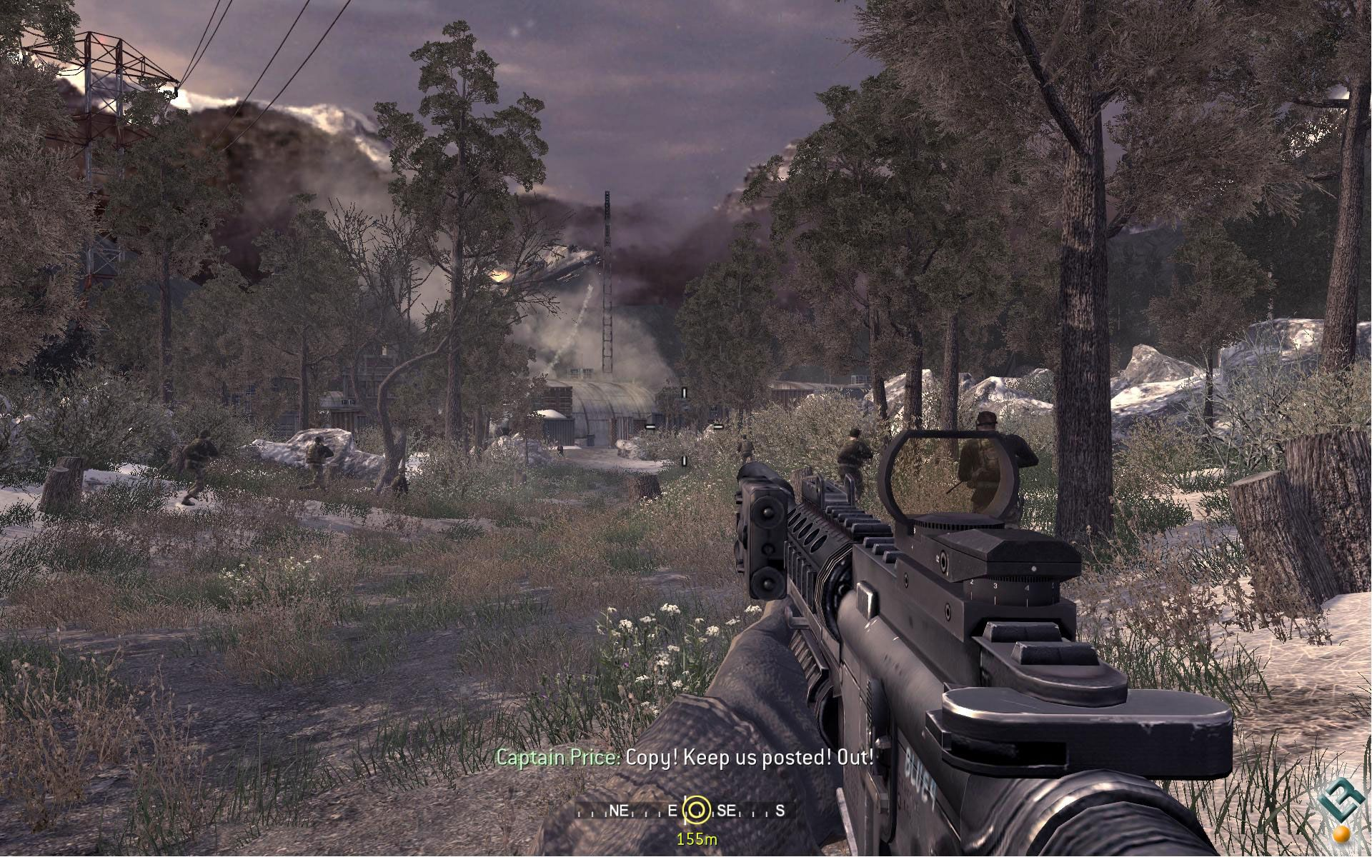 This Is Only One Game Later Yet The Advancement In Graphics Since Cod 3 Is Massive Its A Lot More Gritty Than Before The G Modern Warfare Call Of Duty Warfare