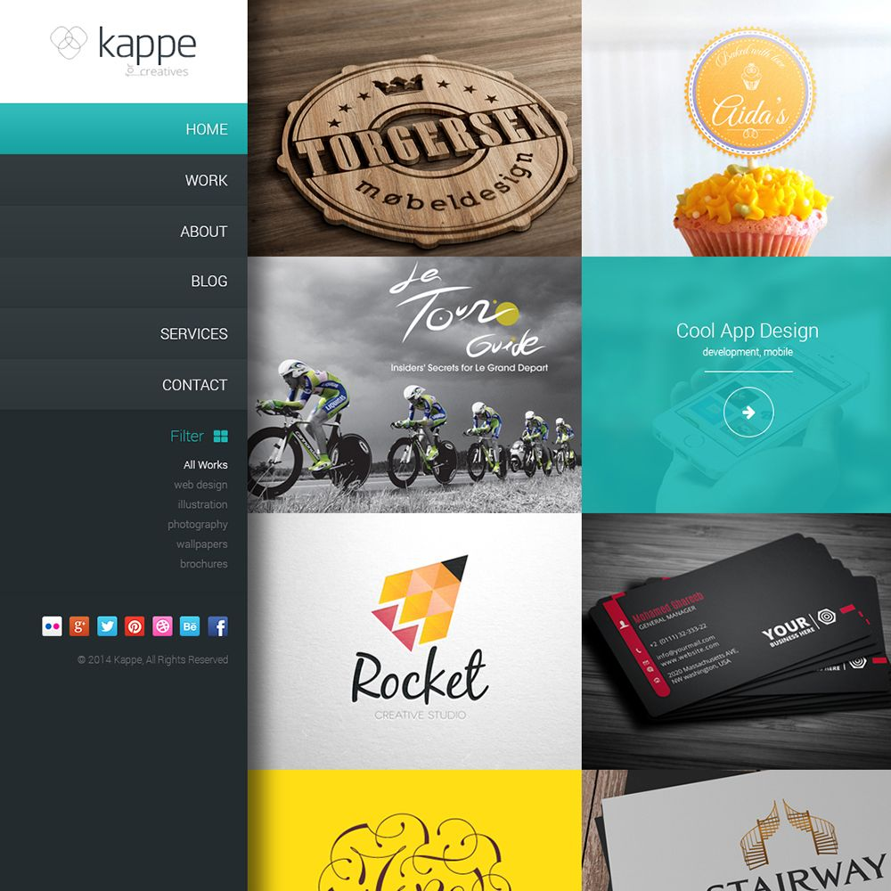 Website Templates Free Kappe Free Psd Creative Multipurpose Web Template  Free Art