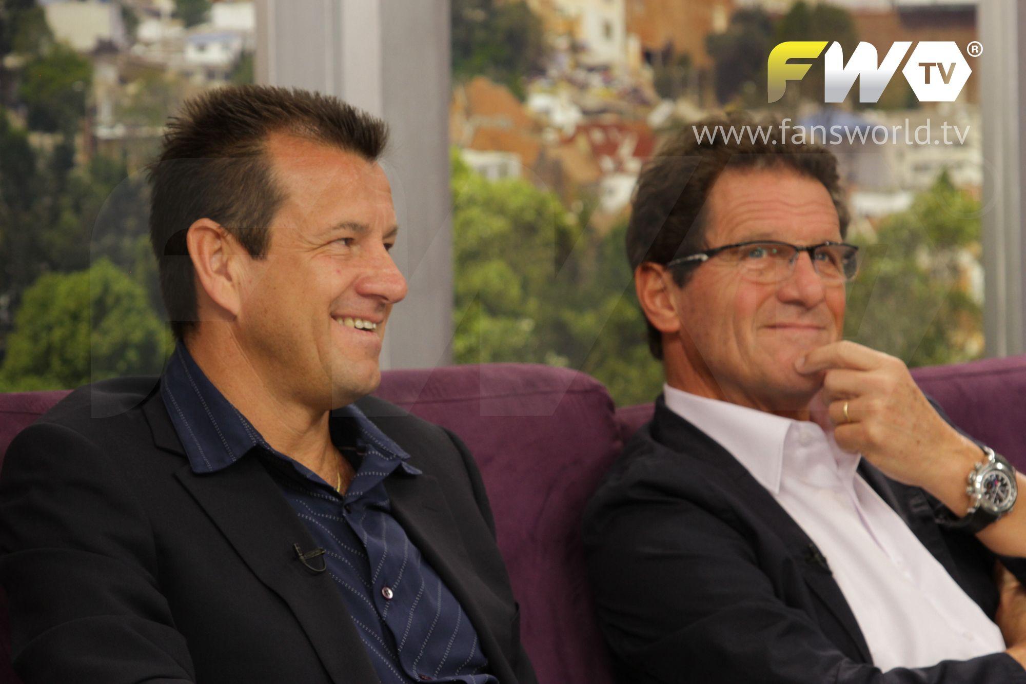 """Dunga y Fabio Capello - Partido a beneficio """"Los Amigos de Messi"""""""