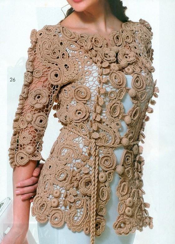 Campera Marron T Ii Motif Pinterest Crochet