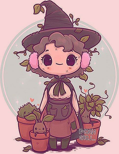 To go with the rest of my Herbology series have a little Professor Sprout ✨should I draw chibis o