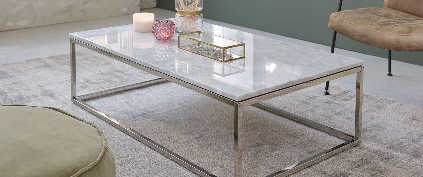 Table Basse Rectangulaire En Marbre Blanc Et Metal 120 Mobilier De Salon Bdbd En 2020 Table Basse Rectangulaire Table Basse Marbre Blanc