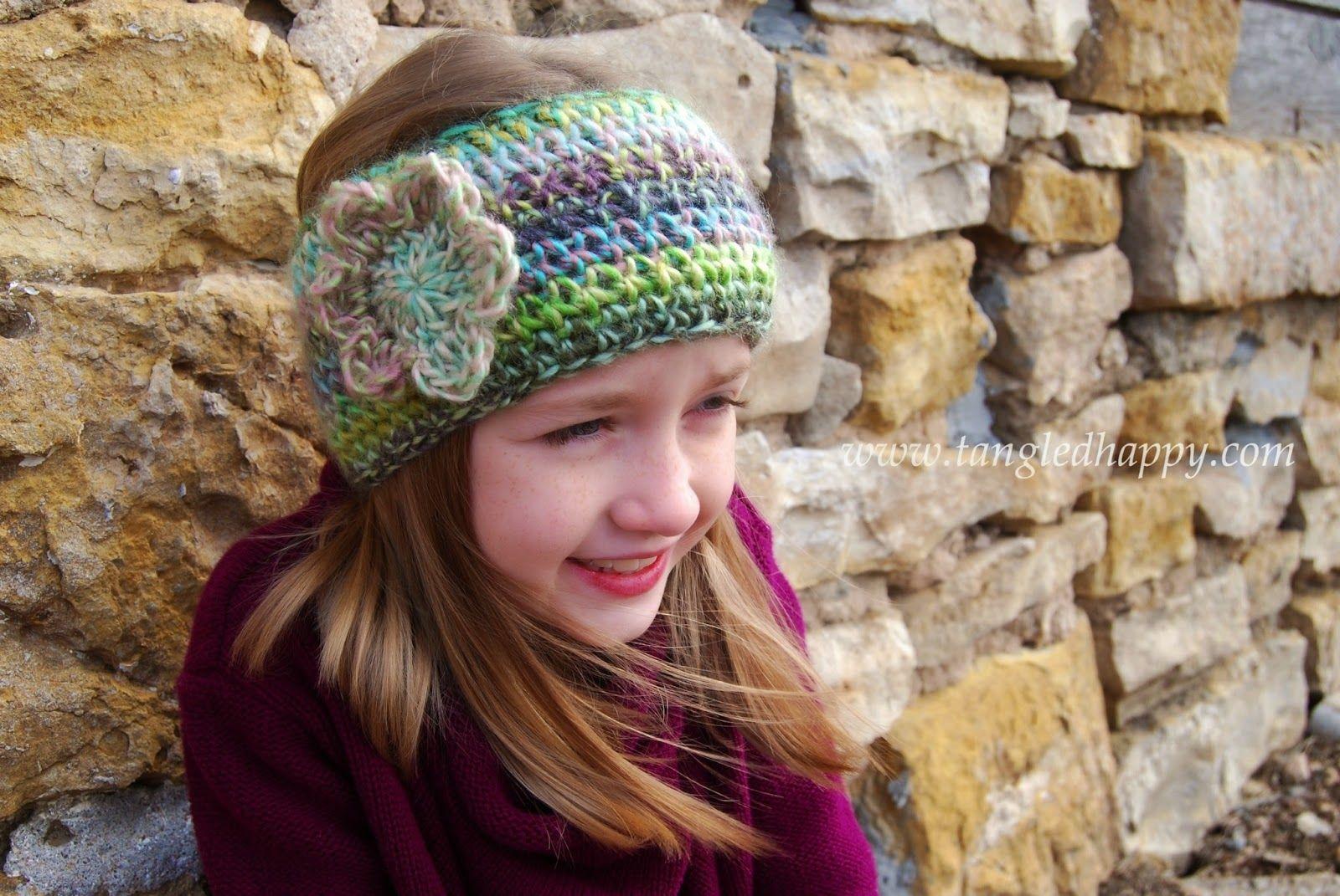Faux Knit Ear Warmer {Free Crochet Pattern} (tangled happy) | Ear ...