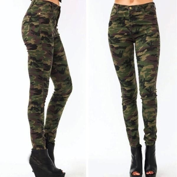 3d8236c763d457 Camouflage high waisted skinny jeans for women #camo #jeans #skinnyjeans # jeans #rippedjeans