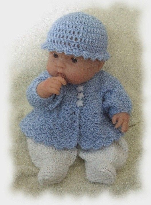 CROCHET PATTERN for Sweet Baby Boy Romper that fits by alcarrico32 ...