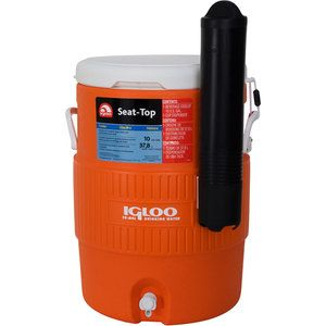 Igloo Beverage Jug Orange And White 10 Gallon 40 Igloo Cooler Igloo Home Brewing