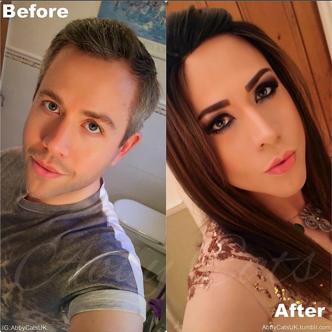 Male to female trans before and after-4328