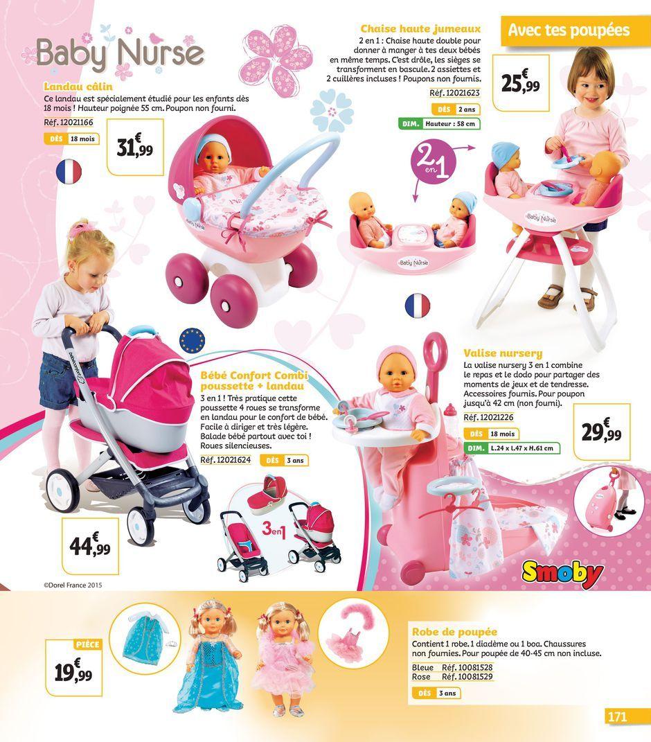 Avec Tes Poupees Baby Nurse Loisirs Jouets Chaise Haute Jumeaux Baby Nurse Landau Calin Valise Nursery Smoby Bebe C Landau Jouet Loisirs