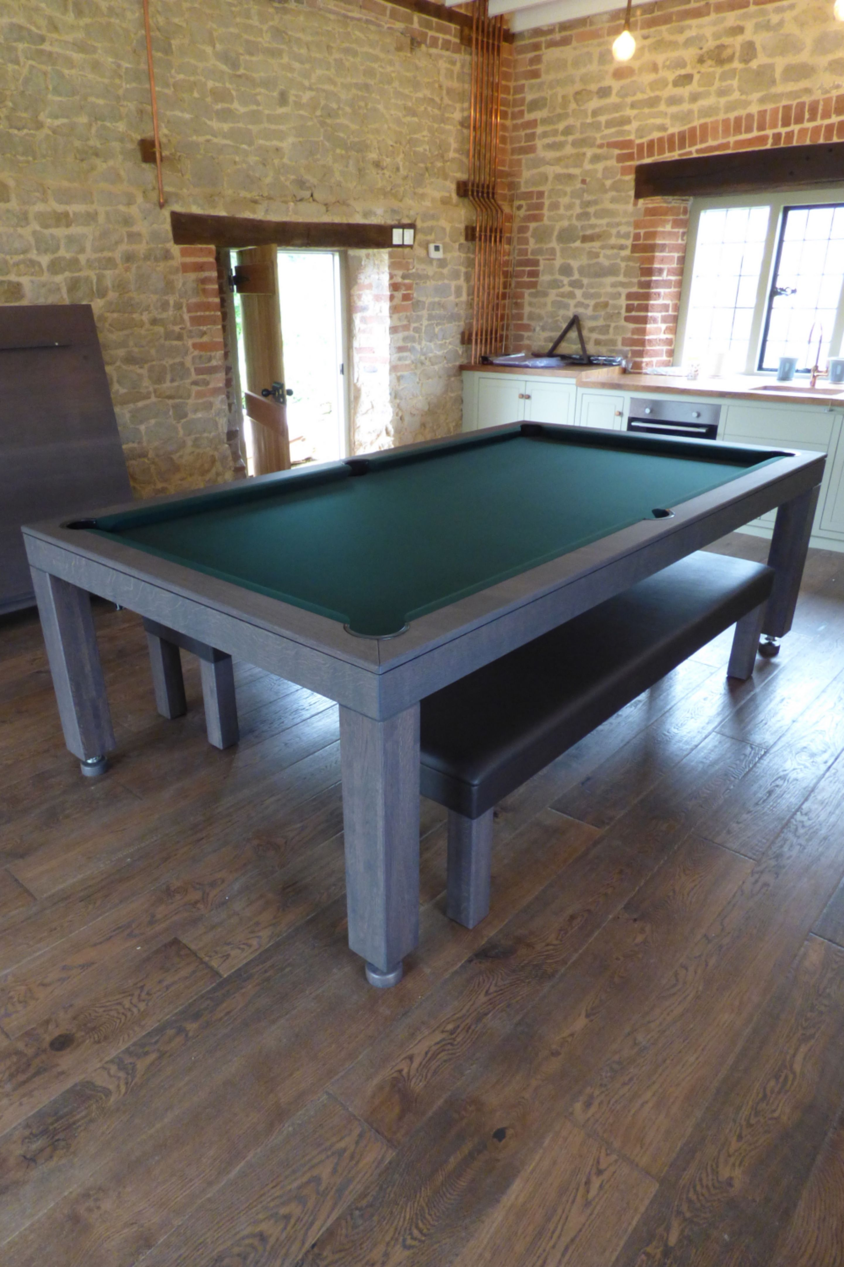 Fabulous 7Ft English Contemporary Pool Dining Table In Our Grey Oak Gmtry Best Dining Table And Chair Ideas Images Gmtryco