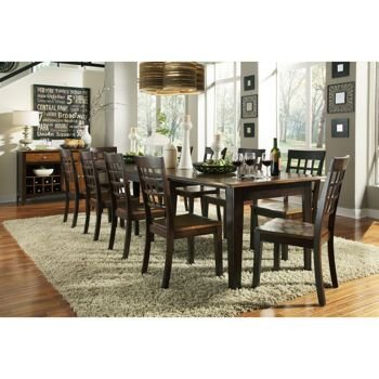 Costco Bainbridge 8 Piece Dining Set Solid Wood Dining Set Dining Table Rectangular Dining Table