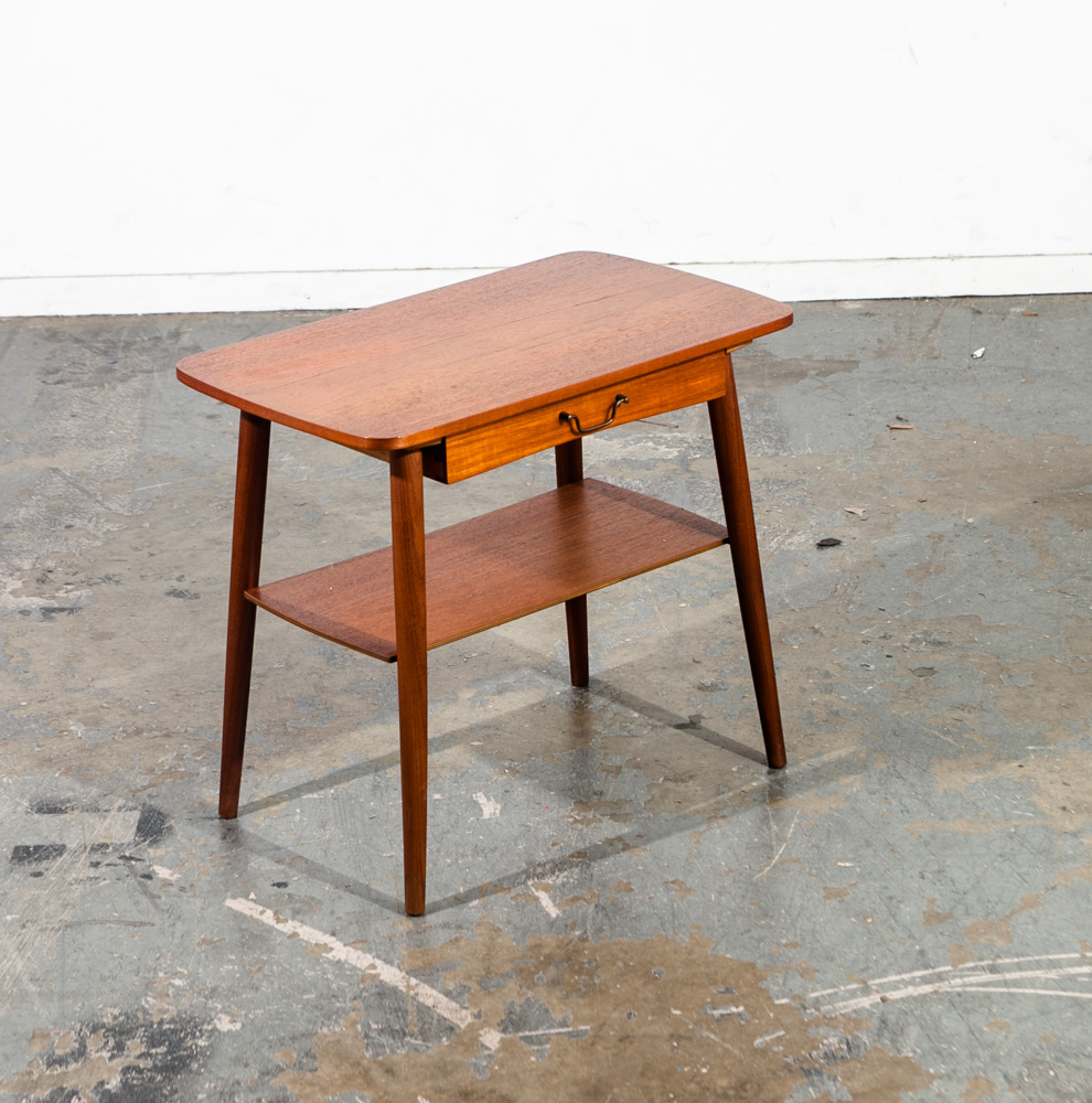 mid century danish modern side table
