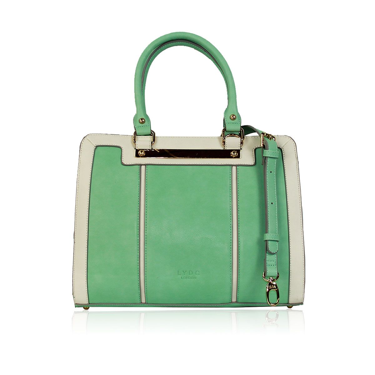 c5860aa2c379 The Marshaw Tote Bag by LYDC in Mint and Cream